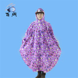 Poncho de pouco peso plástico impermeável adulto da chuva com capa