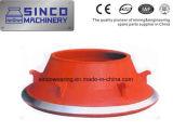 Zerkleinerungsmaschine, welche die Ersatzteile konkav und Umhang für Shanbao Metso trägt