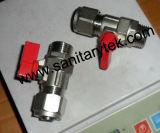 Mini robinet à tournant sphérique pour la pipe de Pex (V20-018)