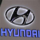 Акриловый Chromed освещенный контржурным светом СИД загоранный знак логоса тавра автомобиля
