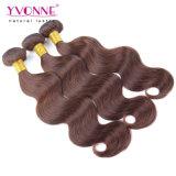 Colorare il tessuto peruviano dei capelli umani di #4 Remy