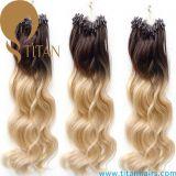 Estensione dei capelli umani di Remy dell'onda del corpo di colore di tono due di 100%