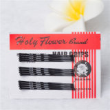 4.5cm Sagrada flor clássica Black Metal Hair Grips (JE1039)