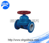 Instalaciones de tuberías alineadas PTFE de la vávula de bola de la válvula del Teflon y de la válvula de mariposa de la oblea de la rueda de la manija