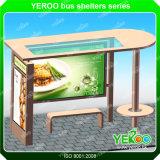 Abri en acier d'arrêt de bus de la publicité extérieure avec le toit de PC