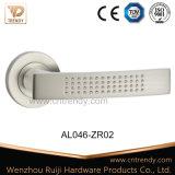 Алюминиевая деревянная ручка рукоятки нутряной двери на розетке (AL011-ZR05)