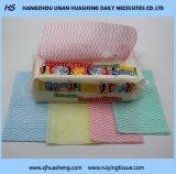 Wipe não tecido do algodão de Non-Fluoscrent para a limpeza da mão & da face