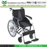 De peso ligero de aleación de aluminio de alimentación de fábrica para sillas de ruedas