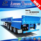 세 배 Axles 600mm Cargo Open Side Wall Semi Trailer Truck