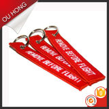 Do Keyring chave feito sob encomenda de China Keychain do suporte da chave da correção de programa do bordado anel chave