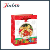 Brillante Laminado de papel de arte Decoraciones de Navidad Carrier Gift Paper Bag