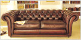 Chesterfield Leather Sofa Set mit italienischem Leather Sofa