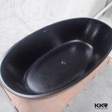 Vasca da bagno nera indipendente di superficie solida di Kingkonree Matt