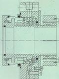 Único tipo selo mecânico da extremidade (Hz3)