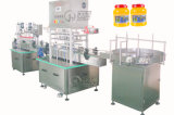 Bottle automatico Fruit Jam Filling Machine con Capping Labeling Line