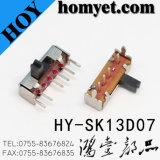 고품질 4pin Three-Position 활주 스위치 또는 누름단추식 전쟁 스위치 (HY-SK13D07)