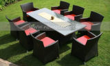Meubles extérieurs de jardin dinant le jeu 8 Seaters (MTC-144)