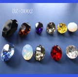 Crystal Jewelry Components (SCATTERED BEAD)のための楕円形のCrystal Stone