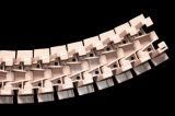 Única corrente plástica perfurada da parte superior lisa da dobradiça com parede lateral