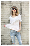 T-shirt 100% occasionnel de coton Camisetas Algodon