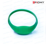 1 pollice RFID Silicone Wristband con Color Filled