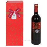 Printed de encargo Paper Wine Gift Packing Box con Ribbon