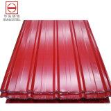 Farben-überzogener Dach-Stahl im Ring/im Blatt (Yx10-125-875)