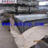 波形のステンレス鋼の屋根ふきシート