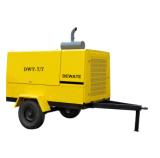 7bar 광업 세륨을%s 휴대용 디젤 엔진 나사 공기 압축기