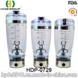 La bouteille populaire de dispositif trembleur du vortex 600ml de charge d'USB, BPA libèrent la bouteille électrique en plastique de dispositif trembleur de protéine (HDP-0729)