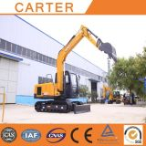 CT85-8b (8.5t) Hydraulic Crawler Backhoe Excavator com Rubber Tracks