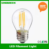 mini filament d'ampoule du globe LED de 4W G45 E27