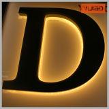 Le mur installent la lettre extérieure de la lumière DEL de Lit de dos d'acrylique