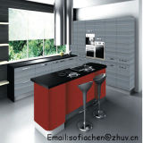 Einfache saubere hohe Glanz MDF-Küche-Möbel