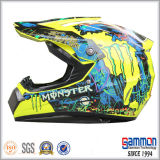 点は冷却する落書き(CR403)が付いている道のオートバイのヘルメットを