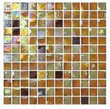 Mattonelle gialle della parete del mosaico di colore, mosaico di vetro