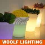 16 colores cambiaron la luz recargable del crisol del crisol de flor del LED LED, crisol ligero del LED