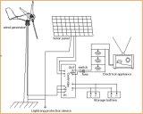 100W Wind Generator, Wind Hybrid Controller para Gardon Light