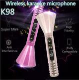 Usager à la maison KTV de musique de Speakr du karaoke K98 de microphone de microphone sans fil tenu dans la main de Candenser