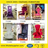 Re di lusso Throne Chair della parte posteriore di livello per il partito