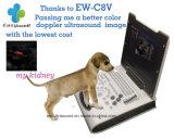 Laptop-Farben-Doppler-Ultraschall-System Ew-C8V mit konvexem Fühler für Tierarzt mit Spezialgebiets-Obstetric Messen-Anwendungspaket