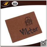 Etiqueta gravada do couro genuíno para os sacos da mala de viagem das calças de brim (HJL40)
