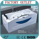 Vasca di bagno bianca di massaggio dell'acqua della bolla di colore (551)