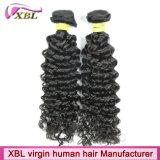 Grandi capelli puri non trattati naturali di riserva del brasiliano del Virgin