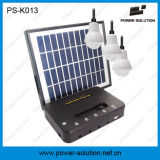 4W nécessaire d'énergie solaire d'ampoules du panneau solaire 3*1W DEL de lumière à la maison solaire de la Chine