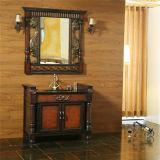 Governo di stanza da bagno di legno antico di alta qualità con lo specchio