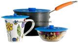 Cómo mantener los alimentos frescos BPA libre silicona succión fuente alimentaria, Pan, Pot tapas