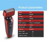 Kemei5887 la venta caliente 3D que intercambia la máquina de afeitar eléctrica IP*7 de los hombres impermeabiliza la maquinilla de afeitar de los hombres
