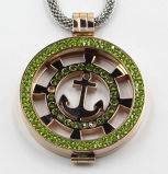 La joyería pendiente vendedora caliente del Locket del acero inoxidable de la manera 316L con pavimenta piedras