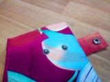 Цветастый с капюшоном плащ PVC для женщины
